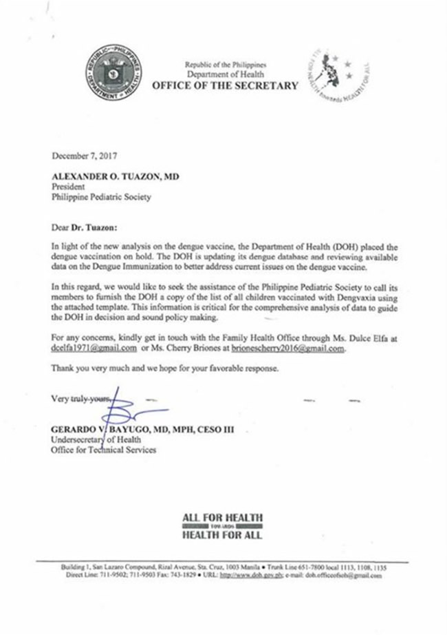 6 DOH Letter to PPS